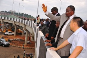 Ajimobi inspecting the Mokola Flyover