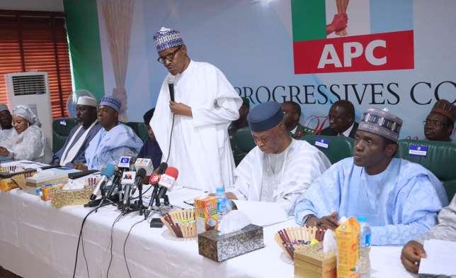 Image result for There's a massive conspiracy in APC against Buhari - report